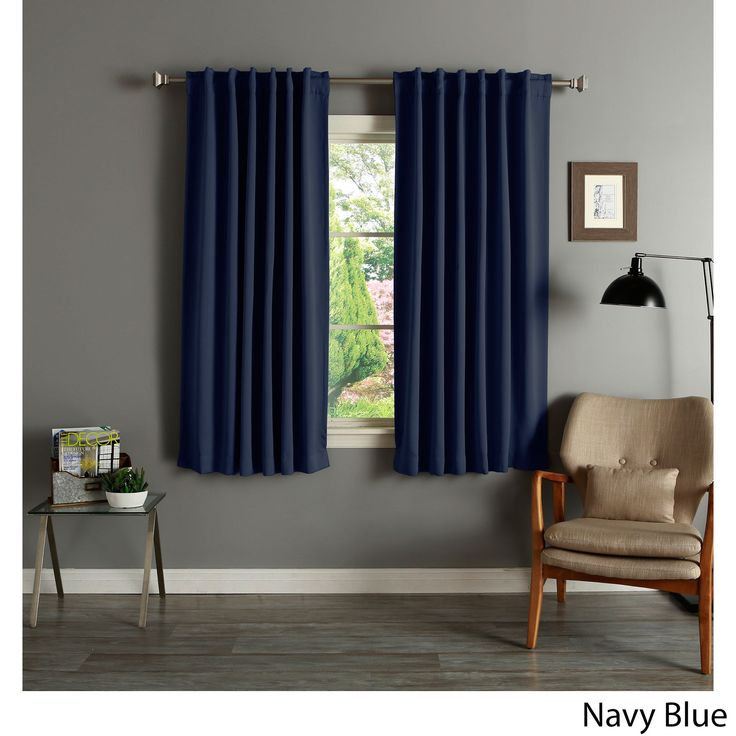 Delightful Solid 63 Inch Insulated Thermal Blackout Panel Pair   Overstock™ Shopping    Great Deals On Curtains