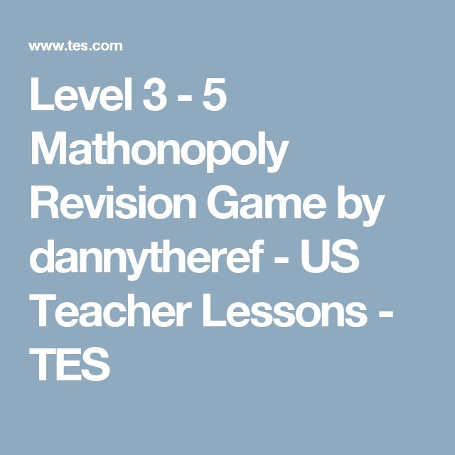 Level 3 - 5 Mathonopoly Revision Game by dannytheref - US Teacher Lessons - TES