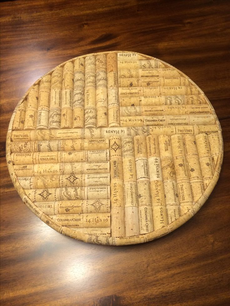 Handmade Lazy Susan It Spins Made Out Of Wine Corks