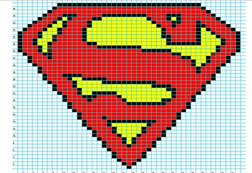 Ravelry: Superman Logo Chart pattern by Elizabeth Thomas