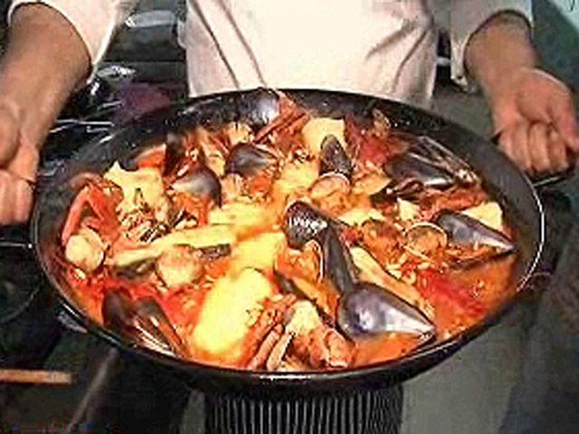 Zarzuela de mariscos y pescado