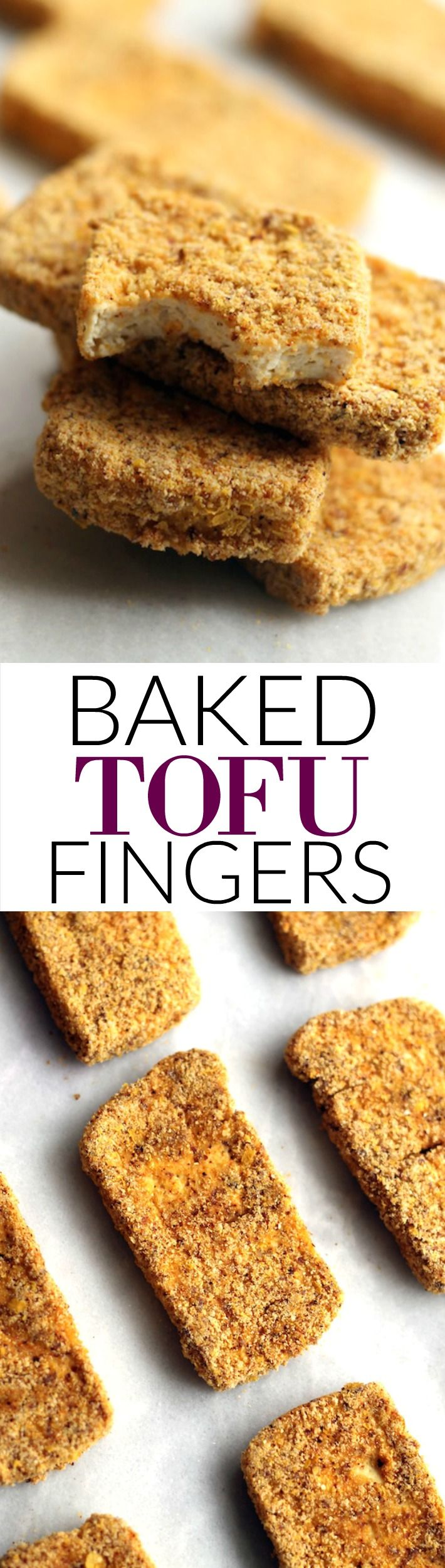 This Crispy Baked Tofu Fingers have an addictive texture and flavor that the whole family will love! They're simple to make, packed with protein, and tasty to boot. Vegan and easily gluten-free!