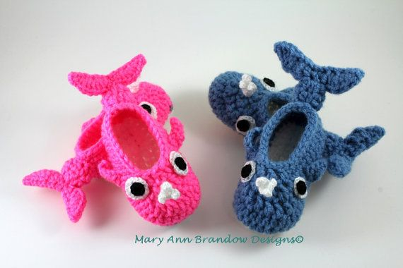 Little Whale Baby Booties от littlebits101 на Etsy