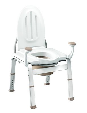 When my Mom was 93, I became concerned about her visits to the bathroom down the hall at night. My solution? Bring the bathroom to her with a bedside toilet chair!