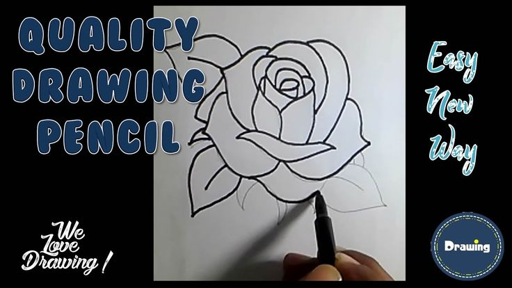 how to draw a rose easy for kids