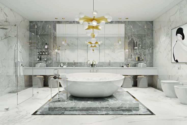 36 Modern Grey & White Bathrooms That Relax Mind Body