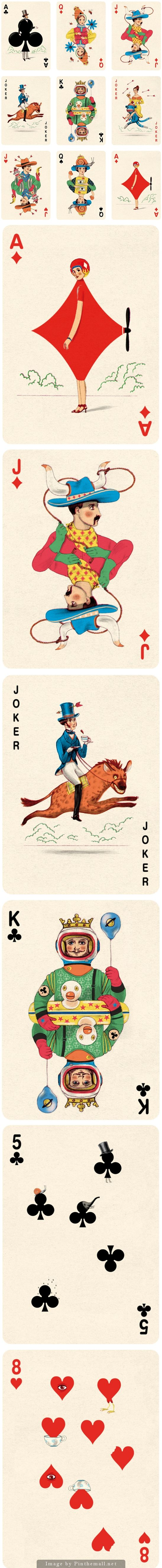 Playing Cards Illustrations by Jonathan Burton - Always wanted to make deck of playing cards, this has just convinced me :-)