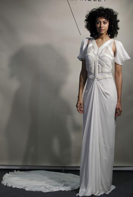 Modern Celebrity Wedding Dresses : Wedding dresses sheath spring
