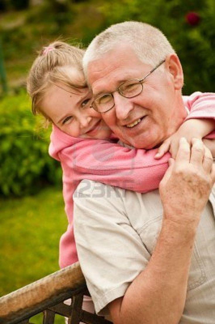 Love - grandparent with grandchild portrait Stock Photo
