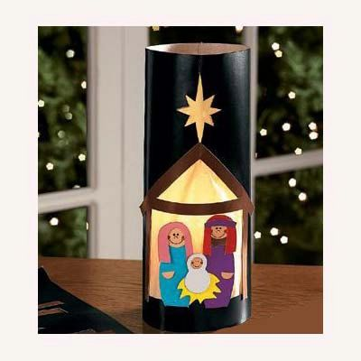 Black Nativity Lantern Christmas Craft Kit by MustHaveBeenTheCat, $4.00