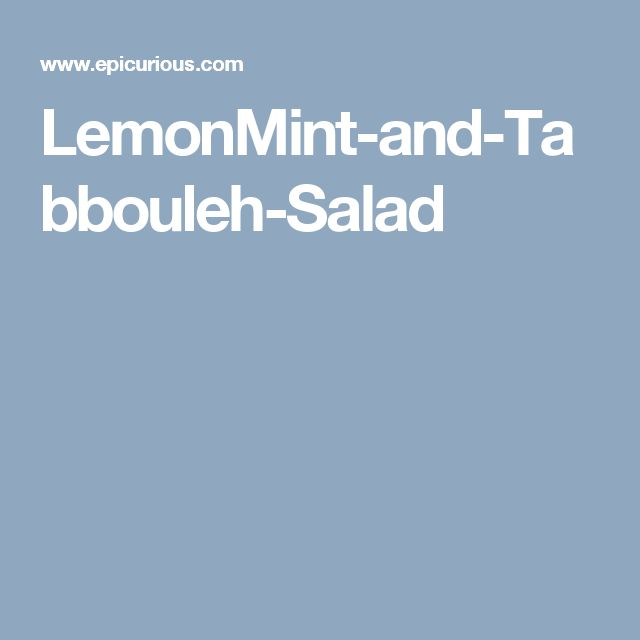 LemonMint-and-Tabbouleh-Salad