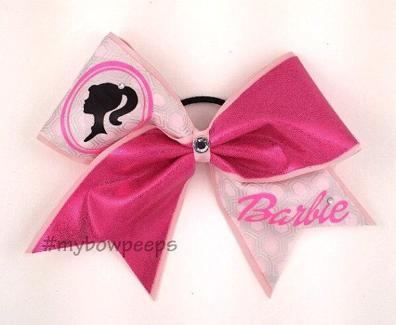 Barbie Cheer Bow by MyBowPeeps on Etsy