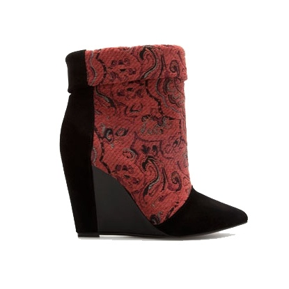 Zara TRF - Fabric Wedge Ankle Boot