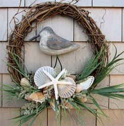 Seashell Wreaths & Gift Baskets and I've got TONS of shells for this!!