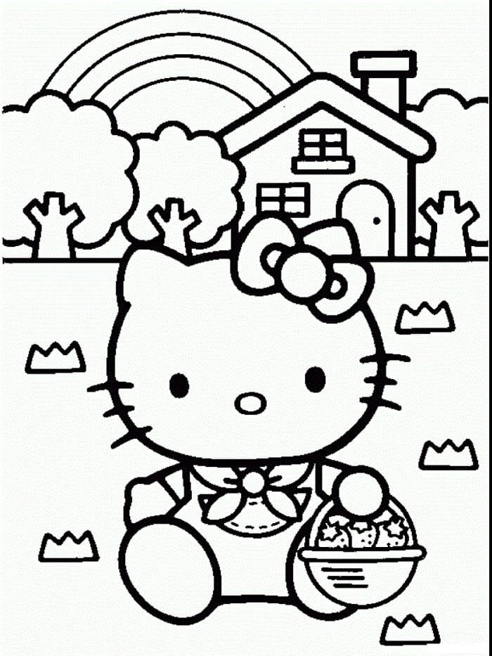 Hello Kitty Easter Coloring Pages Tips