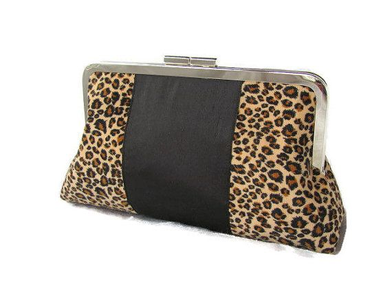 Hey, I found this really awesome Etsy listing at https://www.etsy.com/listing/119630747/leopard-print-clutch-bag-handmade-purse