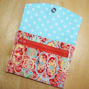 Passo a passo e moldes de carteiras de tecido - A.Craft   Artesanato e artes para relaxar