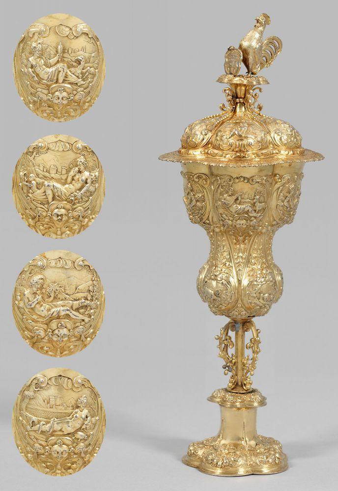 Unique Musealer Hanauer Renaissance Akeleipokal aus dem Besitz des Gro f rsten und ungarischen K nigs Jo