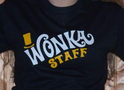 Willy Wonka STAFF T SHIRT charlie & chocolate factory | eBay