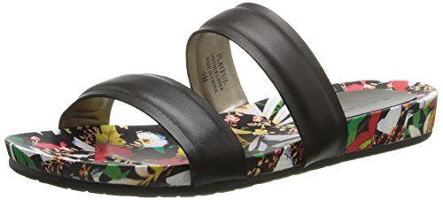 Tahari Women's Playful Dress Sandal, Black/Floral, 6 M US…