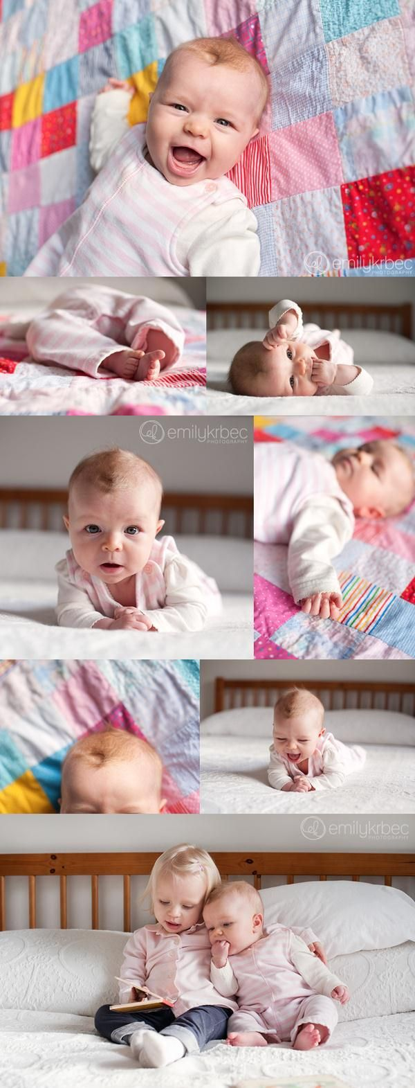 Take baby pictures on your bed