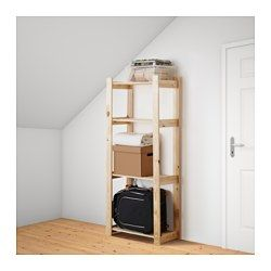 IKEA - ALBERT, Shelving unit, Untreated wood; can be treated with oil, wax or glazing paint for increased durability and a personal touch.