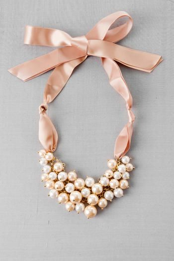 Pearl and satin bow-tie necklace from Francesca's