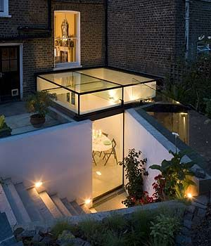 A stunning glass basement extension