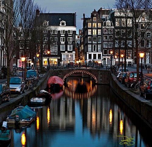 Dusk, Amsterdam, The Netherlands