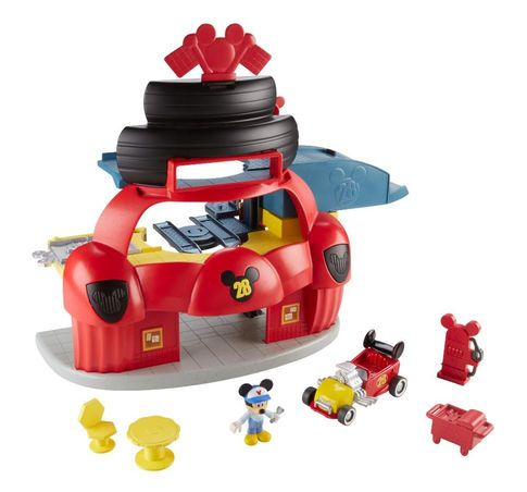 Fisher-Price Disney Junior Mickey Mouse Clubhouse Roadster Racers Garage Set