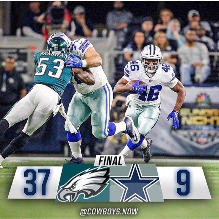 #Final #SundayNightFootball #Eagles 37 vs #Cowboys 9 . . . . . @DC_DemBoyz #PHIvsDAL #AmericasTeam #RespectTheStar #TrueBlue #FootballSundays #SundayFootball #DallasCowboys #CowboysNation #NFLFootball #HowBoutThemCowboys #NFL #WeDemBoyz #DC4L #FinishTheFight #PhiladelphiaEagles #EaglesNation #DC_Demboyz . . . . . Tough loss for #Dallas record 5-5.