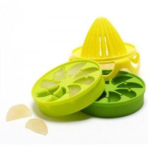 Full Circle Ice Cube Trays - Silicone - Citrus - w/Reamer Golda's Kitchen