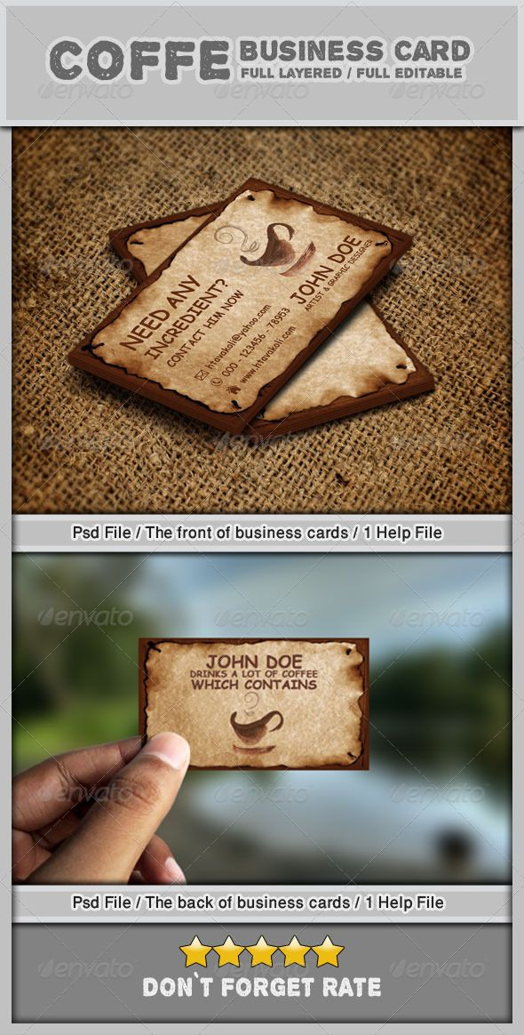 10 best buisness card images on pinterest carte de visite coffee business card 1 reheart Images