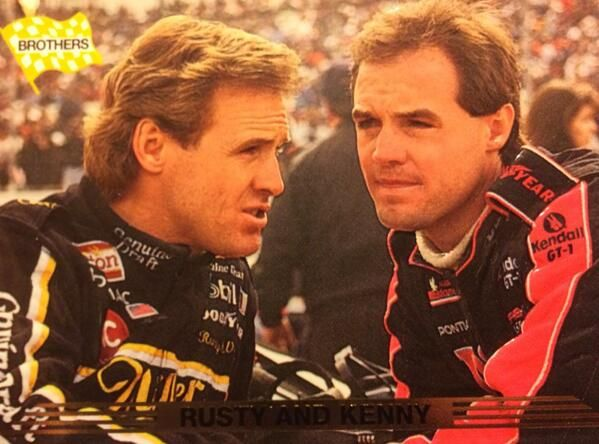 Rusty and Kenny Wallace talking before a race.