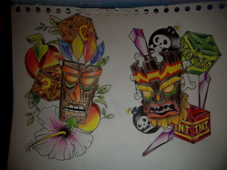 26 best Aku Aku tattoo images on Pinterest | Aku aku ...