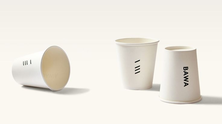 Bawa Cafe - Coffee Cups. Design by Foolscap Studio.