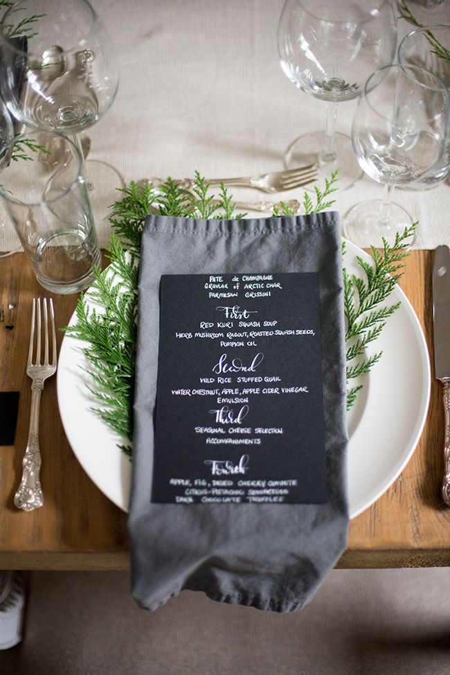 a daily something: An Elegant and Rustic Winter Table