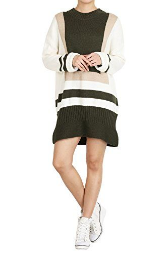 Hipsteration Womens Color Block Knit Tunic Dress Ivory, M Hipsteration http://www.amazon.com/dp/B01AUY35CU/ref=cm_sw_r_pi_dp_fdfOwb0DSQ9YQ