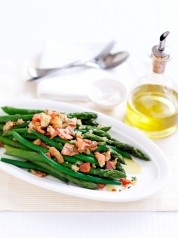 Asparagus and Beans with Crispy Bacon Crumbs - The Good Blog