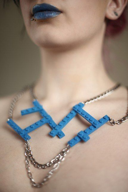 Cool Blue. Awesome LEGO Jewelry.
