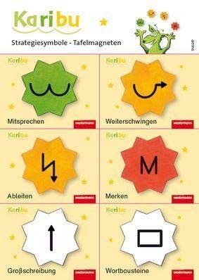 Karibu Tafelmagnete zu den Rechtschreibstrategien - 6 verschiedene Magnete mit Strategiesymbolen: Westermann Verlag