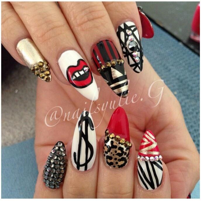 147 best bad ass nails images on pinterest make up nail designs lip designs tribal nail designs tribal nails sexy nails stiletto nails fancy nails long nails nail polishes gel nail prinsesfo Choice Image