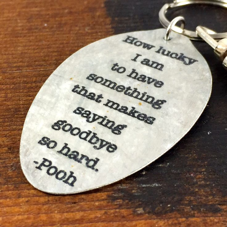Winnie the Pooh Quote Keychain made from a by kyleemaedesigns