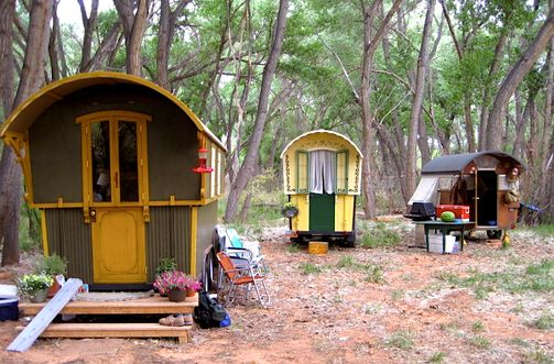 The Atkisson Gypsy Campers. Hand-crafted pop-up gypsy campers. I want one of these!   ☀CQ #DIY