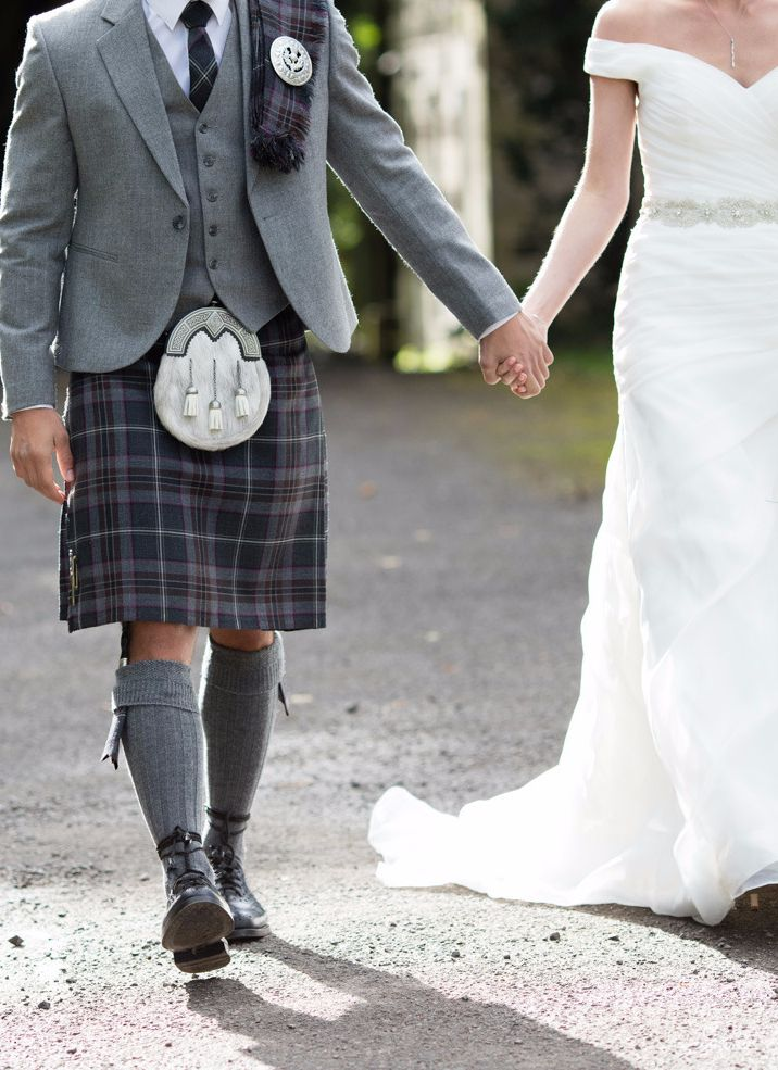 Our exclusive Lomond Mist tartan with statement purple flashes continues to be a favourite choice for Groom's outfits. The kilt teams nicely with light and dark tweed jackets so the choice is entirely up to you!