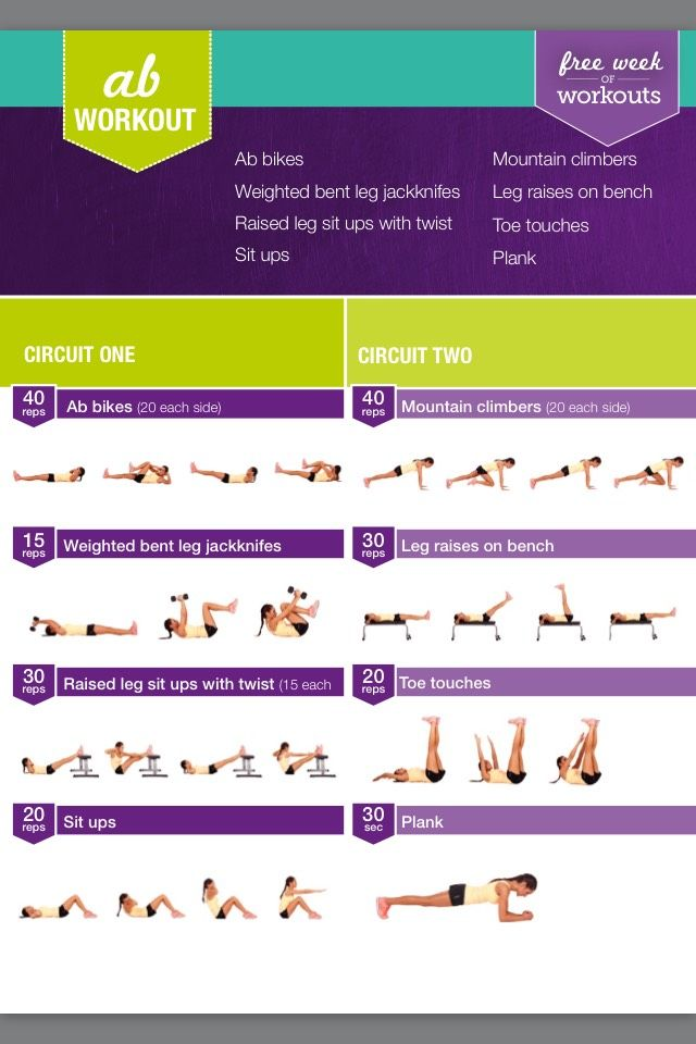 Free 7 Day Kayla Itsines WorkoutNone of the workouts are mine, but i just wanted to share because i know her workout plans are expensive!