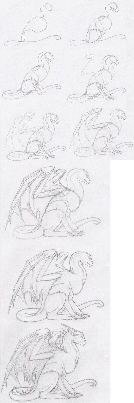 Dragon Sitting Tutorial by shiari on DeviantArt: