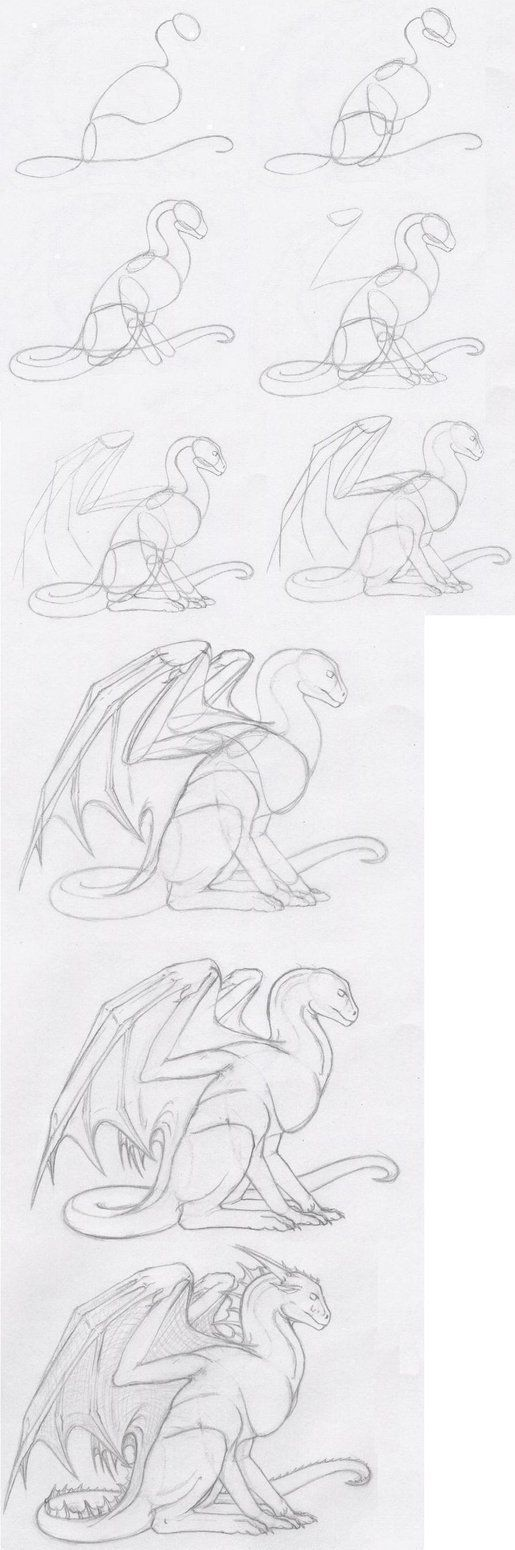 Dragon Sitting Tutorial by shiari on DeviantArt: