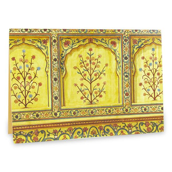 Floral Mughal Art Painting Card  This beautiful card will carry your wishes in the most beautiful way and make them last forever. | Rs. 75 | Shop Now | https://hallmarkcards.co.in/collections/shop-all/products/floral-mughal-art-painting-card | Card Size :20.5*14