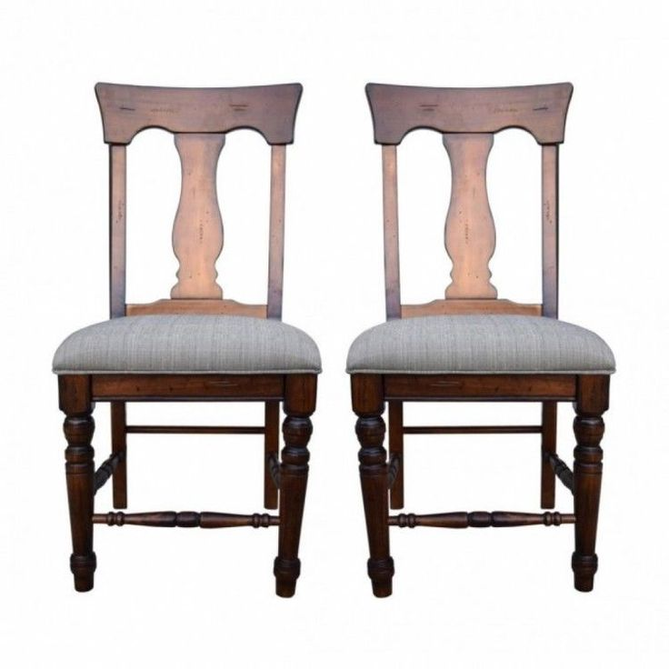 Home Modern Stool Seat Chair Living Room Wood 2 Pieces Set Padded Brown Kitchen #HomeModernStool #Modern